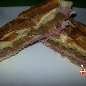 Panini with Ham and Onion Compote