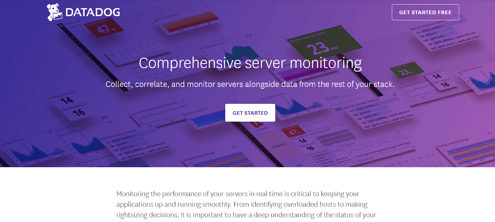 Datadog Server Application Monitoring Software