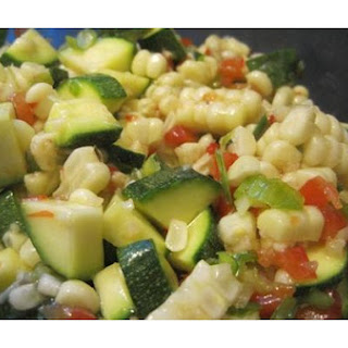 Corn and Zucchini Salad.