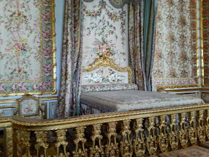 Photo: Queen's bed chamber. When I was here, I kept remembering the day that mobs stormed the palace and she had to escape