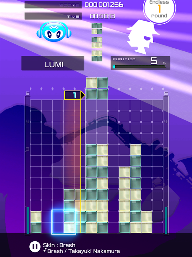 LUMINES PUZZLE & MUSIC- screenshot