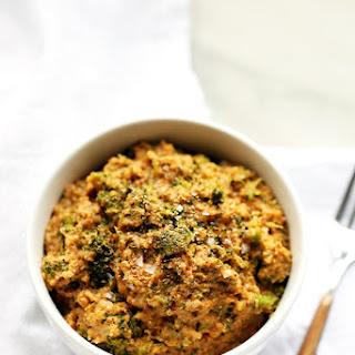Cheesy Broccoli Cauliflower Rice (vegan, gf).