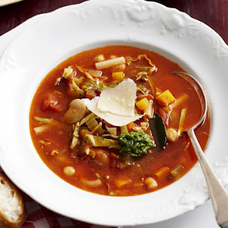 Home Style Minestrone Soup.
