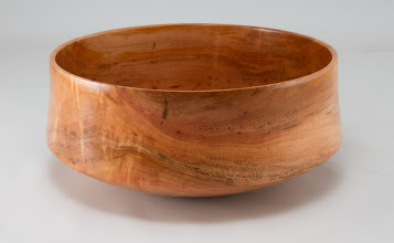 "Photo: Steve Drake 8"" x 3"" bowl [apple]"