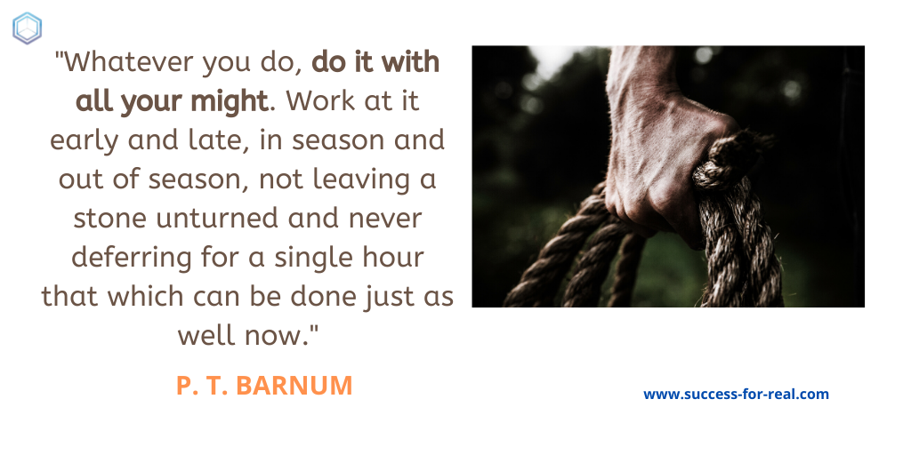365 Success Quotes For Motivation - Picture Quote By P. T. Barnum