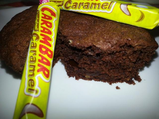 Carambar-Filled Chocolate Muffins