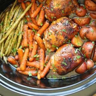 Crockpot Chicken and Vegetables (Mississippi Roast Style) Recipe
