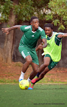 Photo: Khalifa Jabbie and Michael Lahoud  [Training Camp ahead of Leone Stars v Swaziland Game on 31 May 2014 (Pic: Darren McKinstry)]