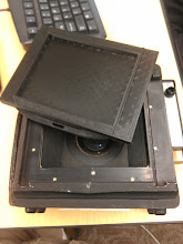Photo: Film carrier goes here. The idea is that we can make backs to fit digital sensors.