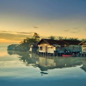 Morning View by Irwan Kairuman - City,  Street & Park  Vistas ( lokbaintan, morning, landscape )