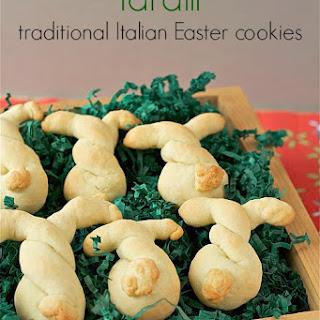 Taralli (traditional buttery Italian cookies)