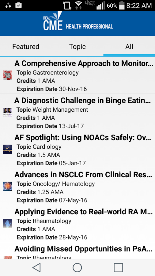 RealCME Health Professional- screenshot