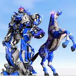 US Police Transform Robot Car Cop Wild Horse Games Icon
