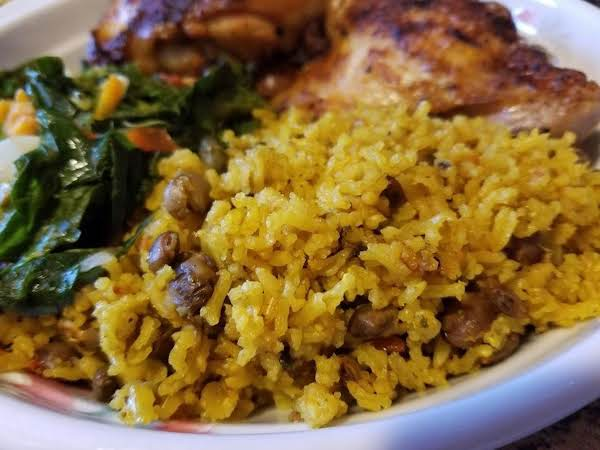 Pigeon Peas With Yellow Rice