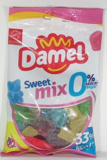 Gomitas Damel Sin Azucar Sweet Mix 100Gr Gomitas sin azúcar