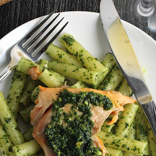 Arctic Char with Kale Pesto