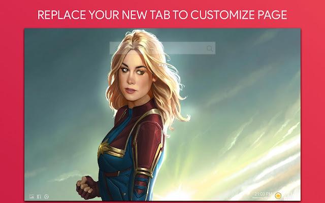 Captain Marvel Wallpaper HD Custom New Tab