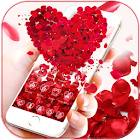 Rojo Rosa amor tema wallpaper Red Rose Love icon