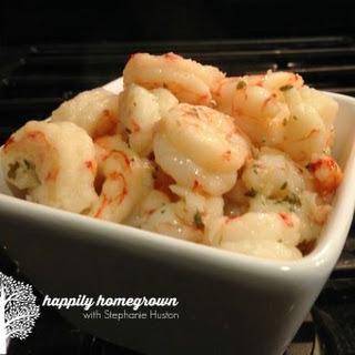 Sizzling Garlic Shrimp.