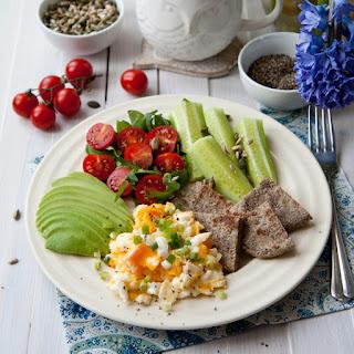 Scrambled Eggs Breakfast Plate.