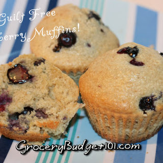Guilt Free Blueberry Muffins.