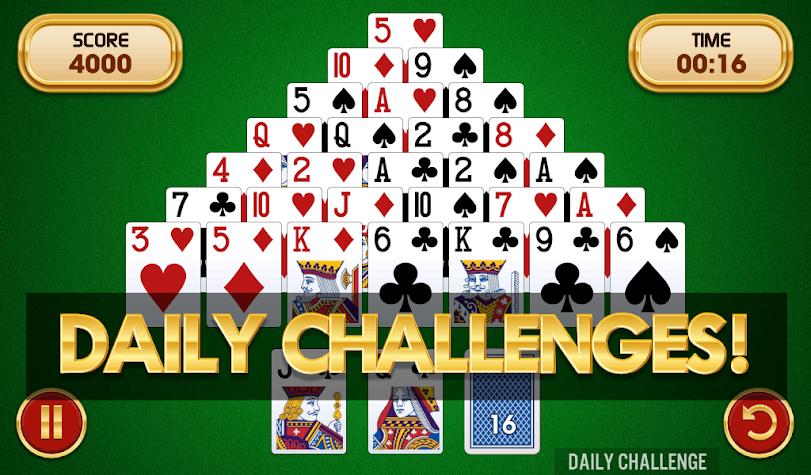 Pyramid Solitaire Challenge Screenshot