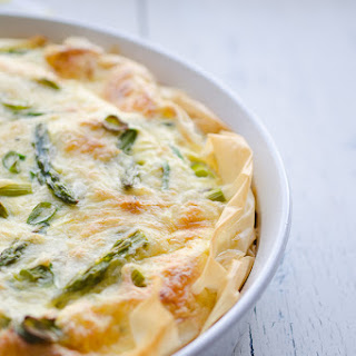 Asparagus and Swiss Phyllo Quiche