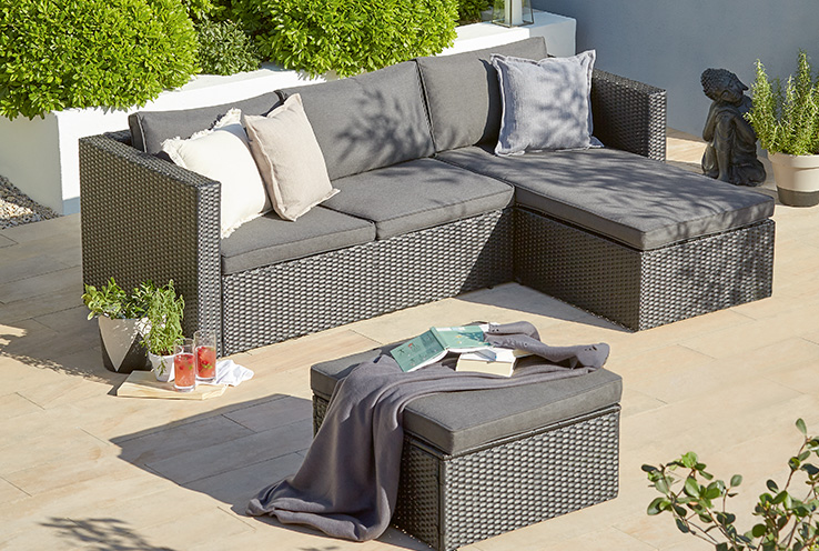 Get your garden ready for summer with our range of BBQs, patio sets and garden accessories.