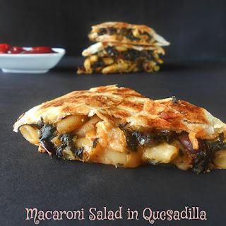 Quesadillas With Macaroni Salad