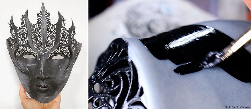 Maska hełmu i jejmalowanie