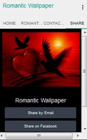 android Romantic Wallpaper Screenshot 2