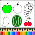 Fruit and Vegetables Coloring game for kids download