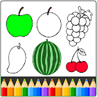 Fruit and Vegetables Coloring game for kids icon