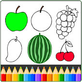 Fruit and Vegetables Coloring game for kids Mod