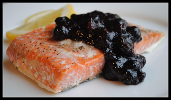 Grilled Salmon With Blueberry Sauce Recipe