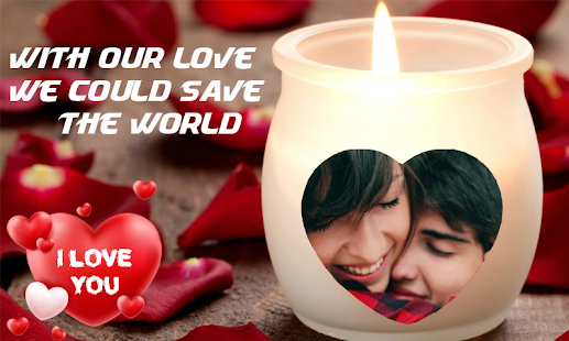 Photo Editor With Love Quotes Amusing Latest Romantic Photo Frames & Love Quotes Editor  Android Apps