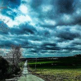 Looking forward  by Amanda Burton - Landscapes Cloud Formations ( clouds, landscape, roads )