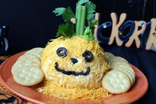 Jack O Lantern Cheese Ball