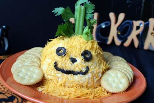 "Jack O Lantern Cheese Ball ""Cute and tasty for Halloween."" - Cookinwithfire"