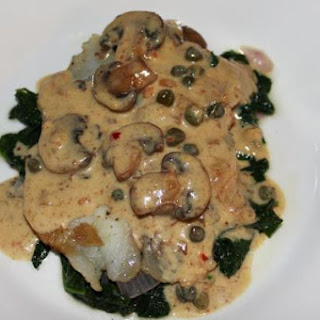 Tilapia in Mustard Cream Sauce.