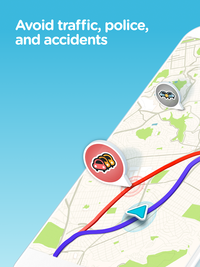 Waze - GPS, Maps, Traffic Alerts & Live Navigation Android 6