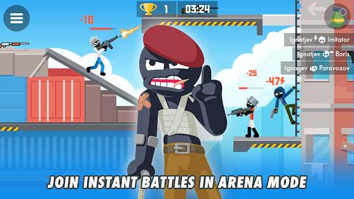 Stickman Combats: Multiplayer Stick Battle Shooter apktram screenshots 1