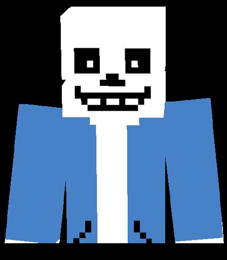 Minecraft Sans Pi Skin Undertale