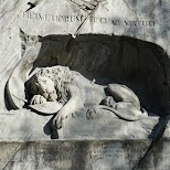 famous Lion Monument of Lucerne in Lucerne, Lucerne, Switzerland