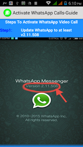 Activate WhatsApp Calls-Guide