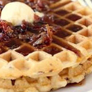 All-In-One Bacon and Cheddar Waffles.