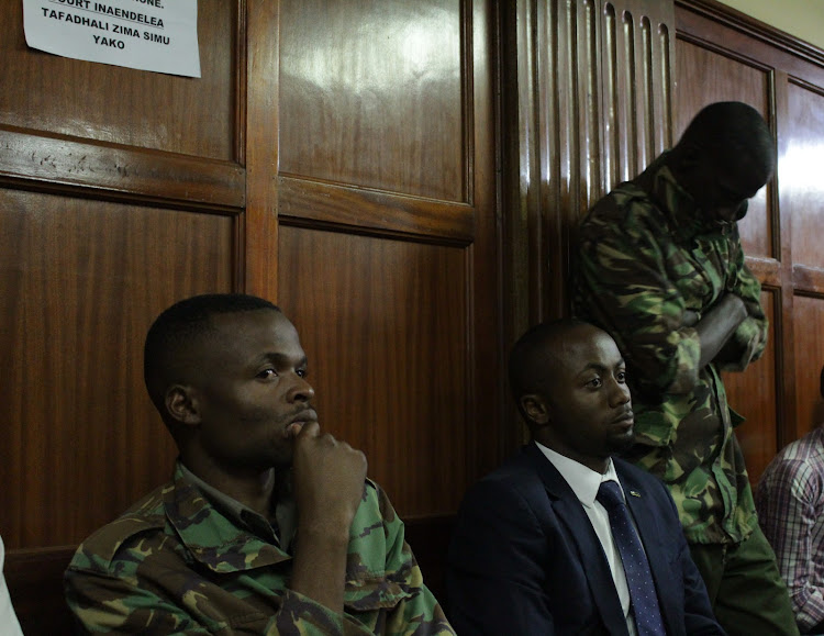 Joseph Irungu at a Milimani court on Wednesday, March 13, 2019.