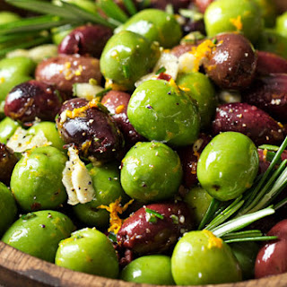 Easy Citrus Herb Marinated Olives.