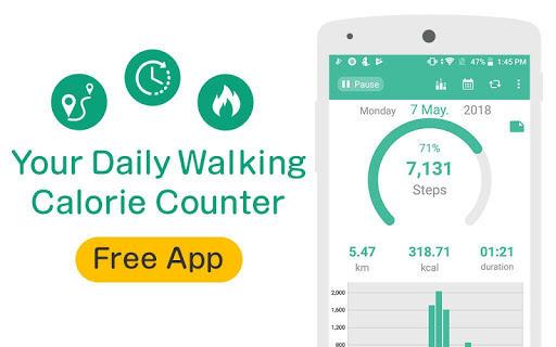 Pedometer - Free Step Counter Maipo screenshot 1