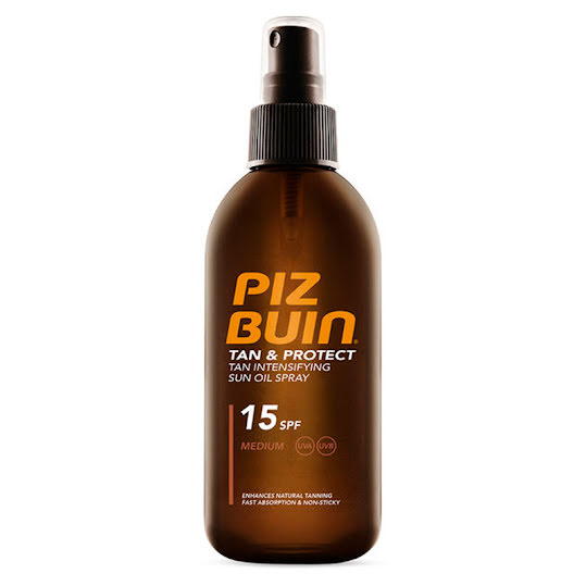 Piz Buin Tan & Protect Sun Oil Spray SPF15 150 ml
